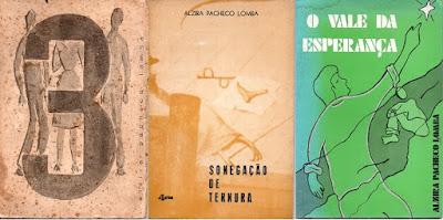 """Capas dos livros: """"3"""" (1962); """"Sonegação de Ternura"""" (1968); e """"O Vale da Esperança"""" (1977)."""