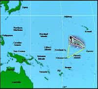 Map of Pacific with Nikumaroro Island