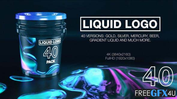 Liquid Logo Reveal 40 In 1 Pack