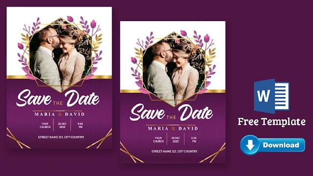 Download Undangan Pernikahan Word Elegant