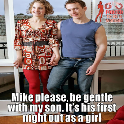 Be gentle with my son - TG Captions and more - Crossdressing and Sissy Tales and Captioned images