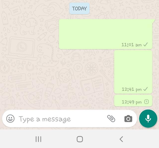 Blank WhatsApp message