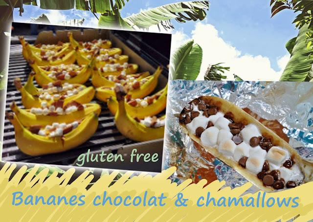 dessert aux bananes, cuit au bbq, facile et rapide pour enfants