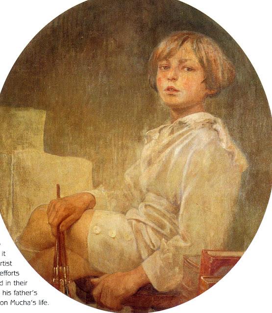 Альфонс Муха - Портрет Джири. 1925