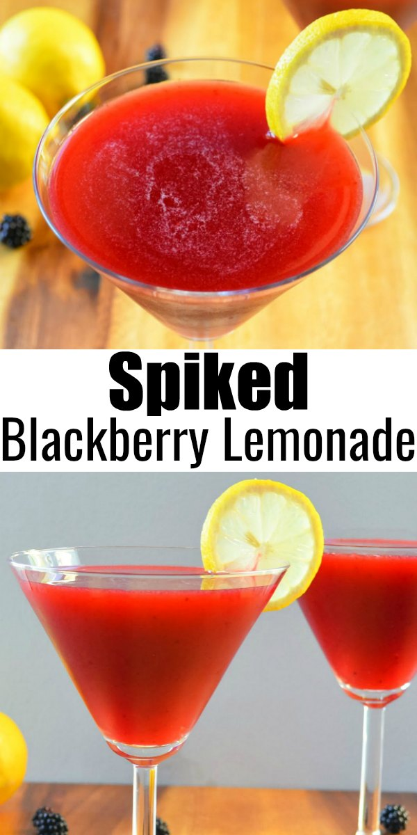 Delicious Blackberry Lemonade or Spike it for a refreshing summertime adult beverage! An easy cocktail recipe great for a party from Serena Bakes Simply From Scratch.
