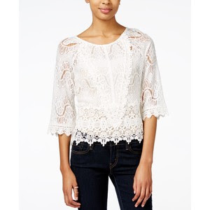 Three quarter lacey blouse from Macy's