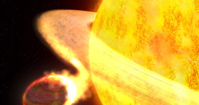 WASP-12b heading towards its host star, very soon destruction of WASP-12B Exoplanet...