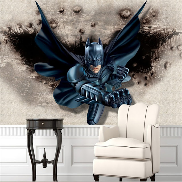 batman wall murals 3d Hero wallpaper mural childrens room comics Photo Wallpaper Kids Boys