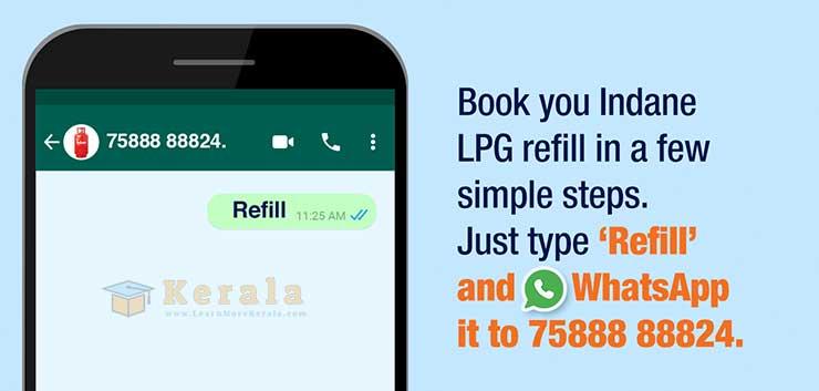 Indian oil WhatsApp refill booking