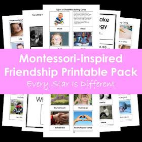 Montessori-inspired Friendship Printable Pack
