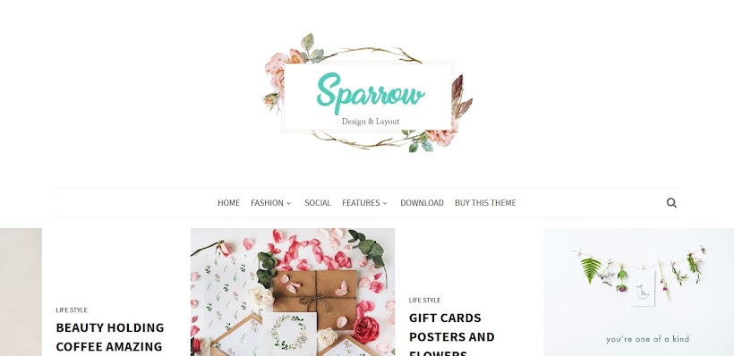 Sparrow Free Blogger Template