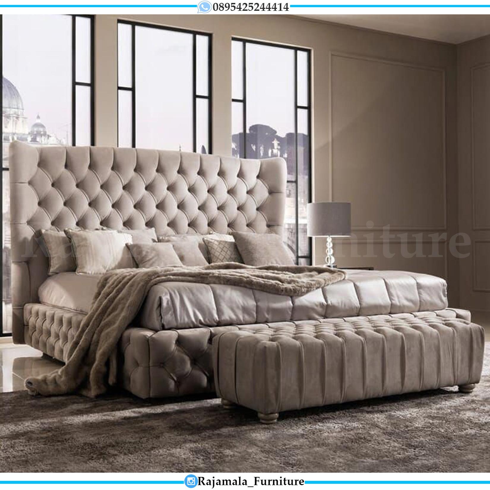 New Set Tempat Tidur Minimalis Jepara Terbaru Full Upholstery RM-0078