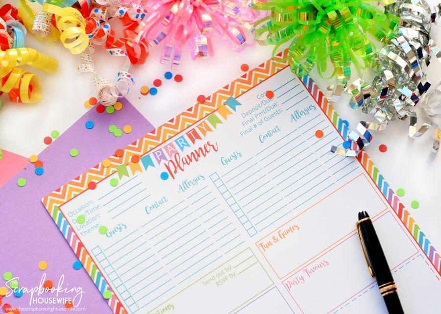 birthday planner online