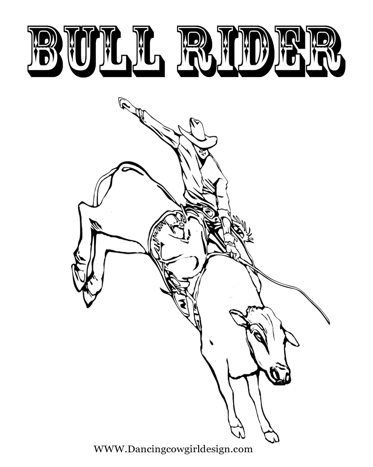 Rodeo Coloring Pages Bull Rider Coloring Sheet 2