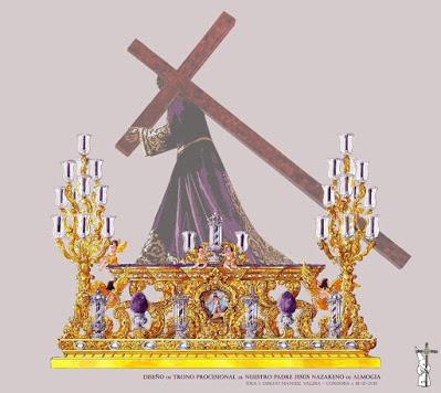 Presentado el boceto del nuevo paso procesional de Jesús Nazareno de Almogía (Málaga)