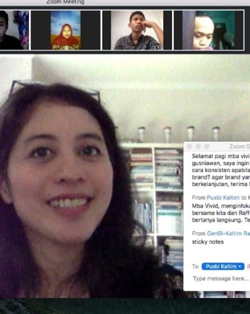 vivid argarini pusbi bank Indonesia genbi kaltim