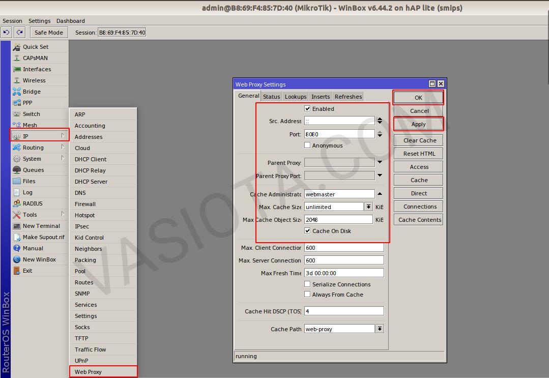 Blok Situs dengan Web Proxy Mikrotik