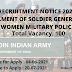 Recruitment for Soldier Post 2021