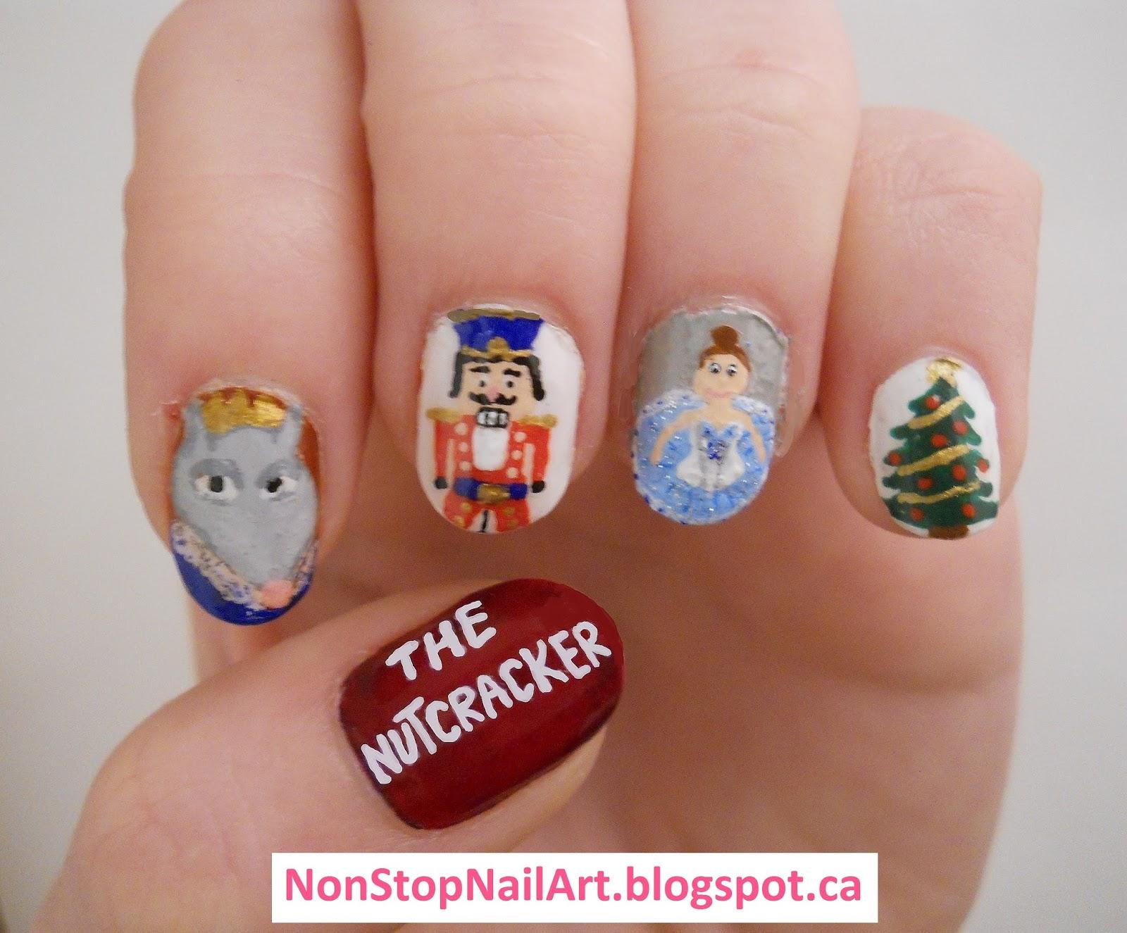 Non Stop Nail Art Christmas Nails 2016 Nutcracker Nails