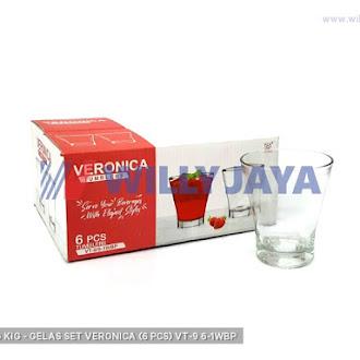 KEDAUNG/ KIG - GELAS SET VERONICA (6 PCS) VT-9/6-1WBP