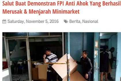 Website Islam NKRI Fitnah Massa Umat Islam Menjarah Minimarket, Terbantah Oleh Pernyataan Polri! Ahokers Memang Gemar Membuat Berita Hoax dan Fitnah