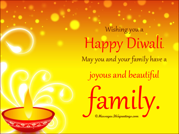 Happy Diwali Sms for Family