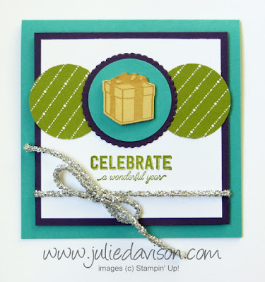 Stampin' Up! Labels to Love Birthday Card ~ 2017 Holiday Catalog ~ www.juliedavison.com