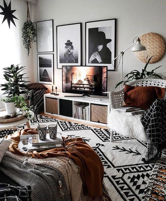 cool boho interior design