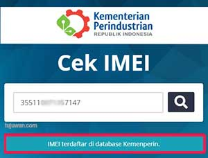 Registrasi IMEI Kemenperin