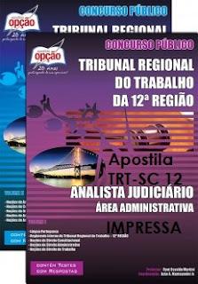 Apostila TRT-12ª Região (Impressa) cargo de Analista Judiciário