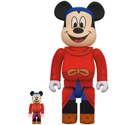 Fantasia The Sorcerer's Apprentice Mickey Mouse Be@rbrick Vinyl Figures by Medicom Toy x Disney