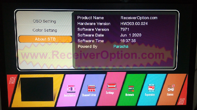 GX6605S HW203.00.024 NEW SOFTWARE WITH U38 MENU 1 JUNE 2020