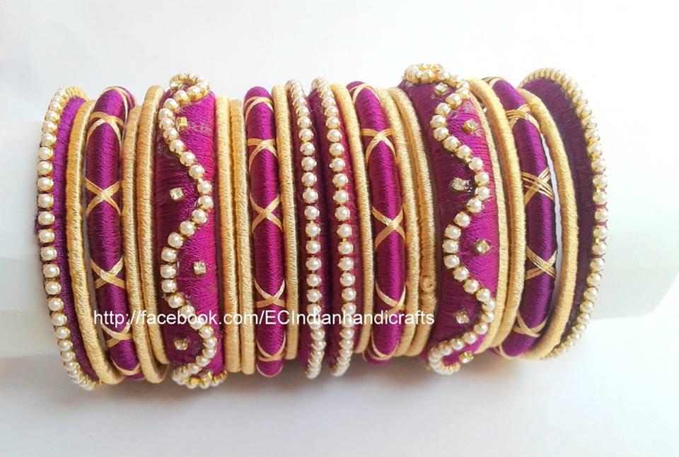 Easy Crafts Explore Your Creativity Silk Thread Bangle