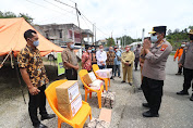Kapolda Kalbar Kunjungi Wilayah Longsor di Kabupaten Sanggau