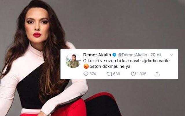 Cemal Metin Avcı isimli katilin iri ve uzun bir kızı varile nasıl sığdırdığı ile ilgili tweet atan Demet Akalın, eleştirilerin hedefi oldu.