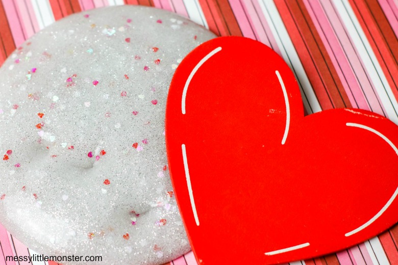 easy valentine slime recipe
