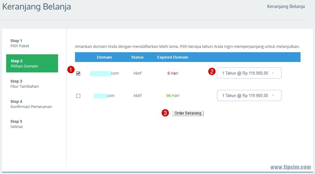 Panduan Memperpanjang Domain IDwebhost