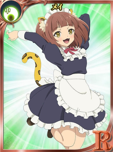 Personagem Mei da Light Novel Isekai Maou to Shoukan Shoujo no Dorei Majutsu / How NOT To Summon a Demon Lord Cartão Ilustrativo