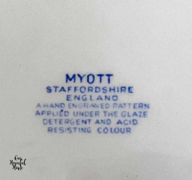 Myott Staffordshire England plate