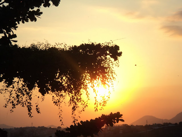 Salmos, por do sol