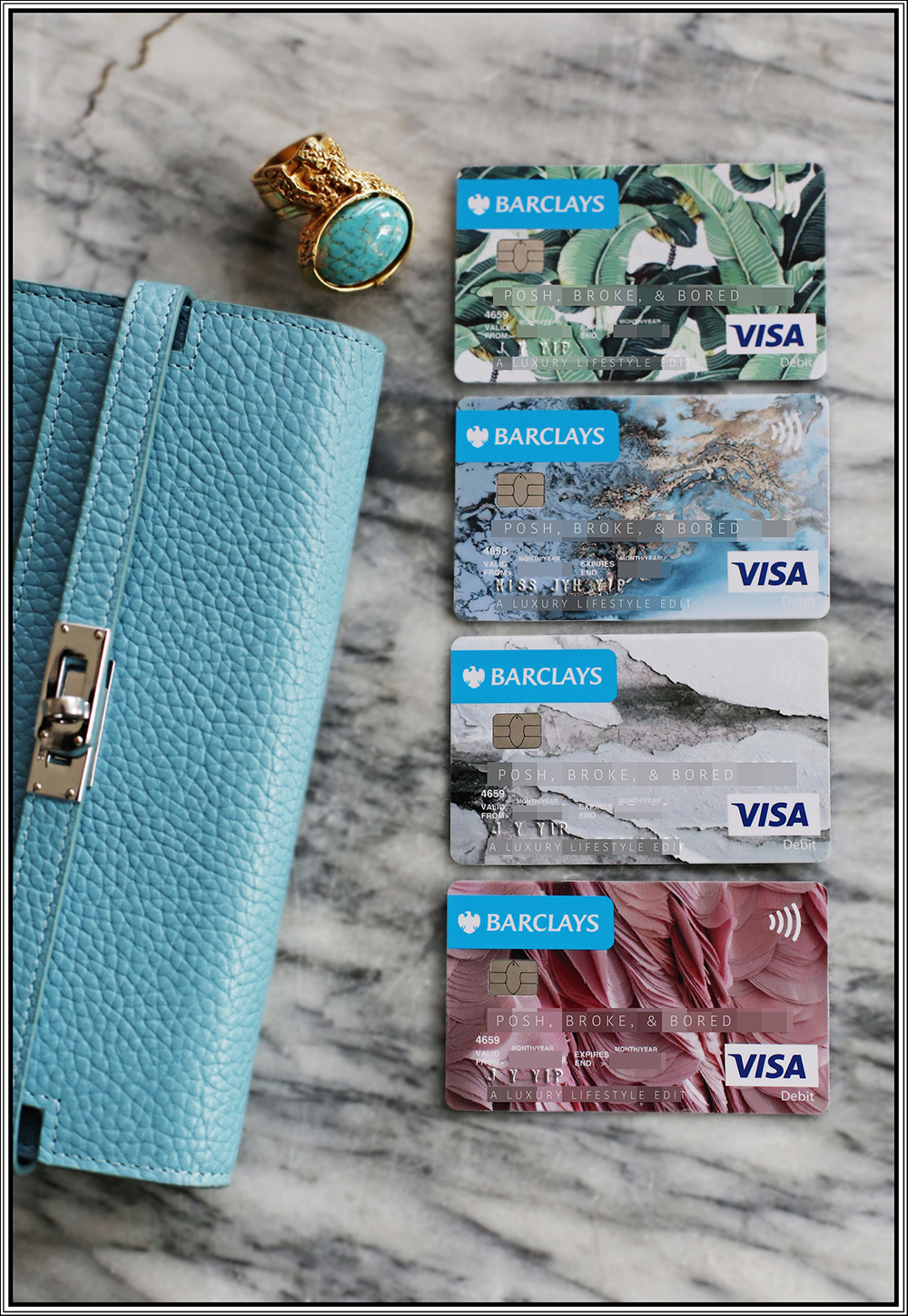How I manage my personal finances with 4 Barclays bank accounts, Barclays Mobile Banking, and Barclays Personalised Card Designer.
