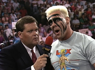 WCW Clash of the Champions XI - Sting issues a challenge to Ric Flair