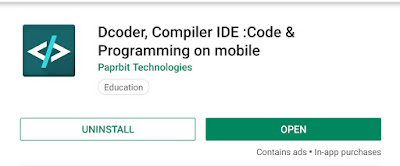 Dcoder image Android application
