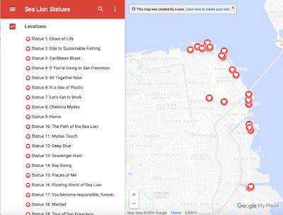 sea lion statues map