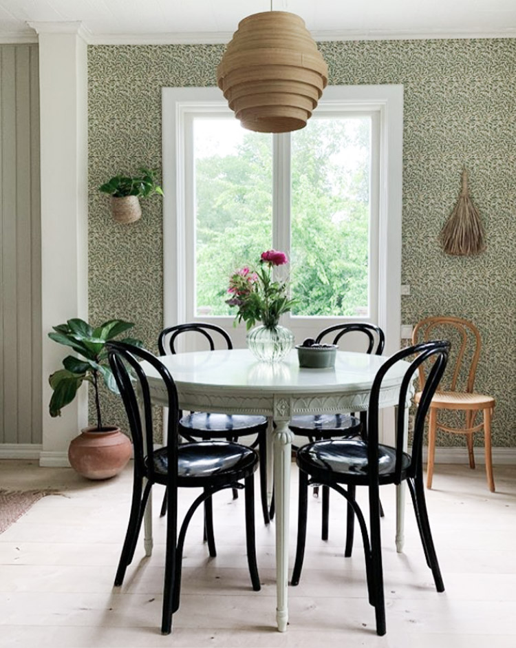 A Charming Swedish Home Full of Pattern and Plants!