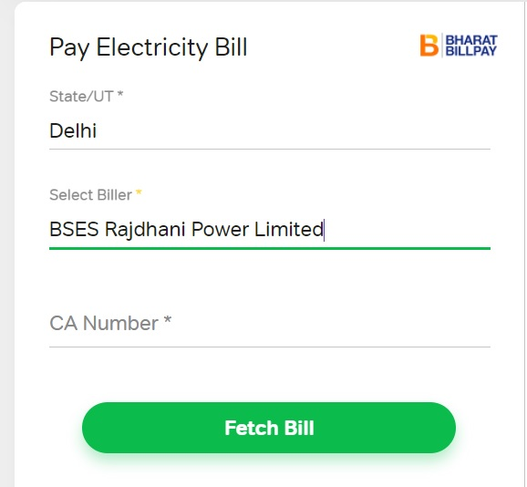 airtel bses bill payment
