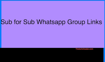 Sub For Sub Whatsapp Group Links