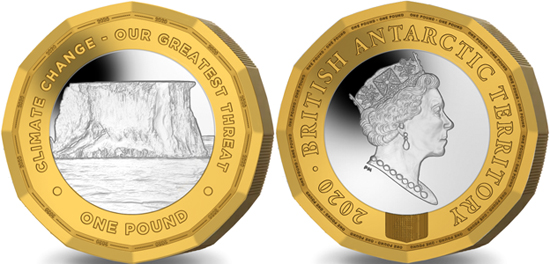 British Antarctic Territory 1 pound 2020 - Climate Change