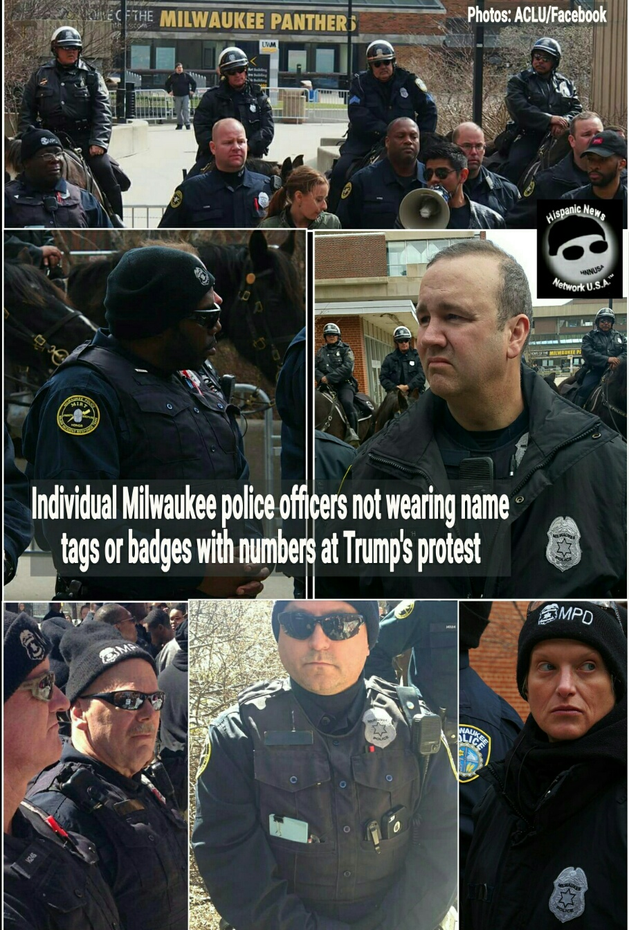 Shopping Biz USA: Milwaukee Police Covered Badges And