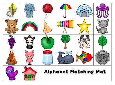 Freebie Alphabet Sound Matching Mat